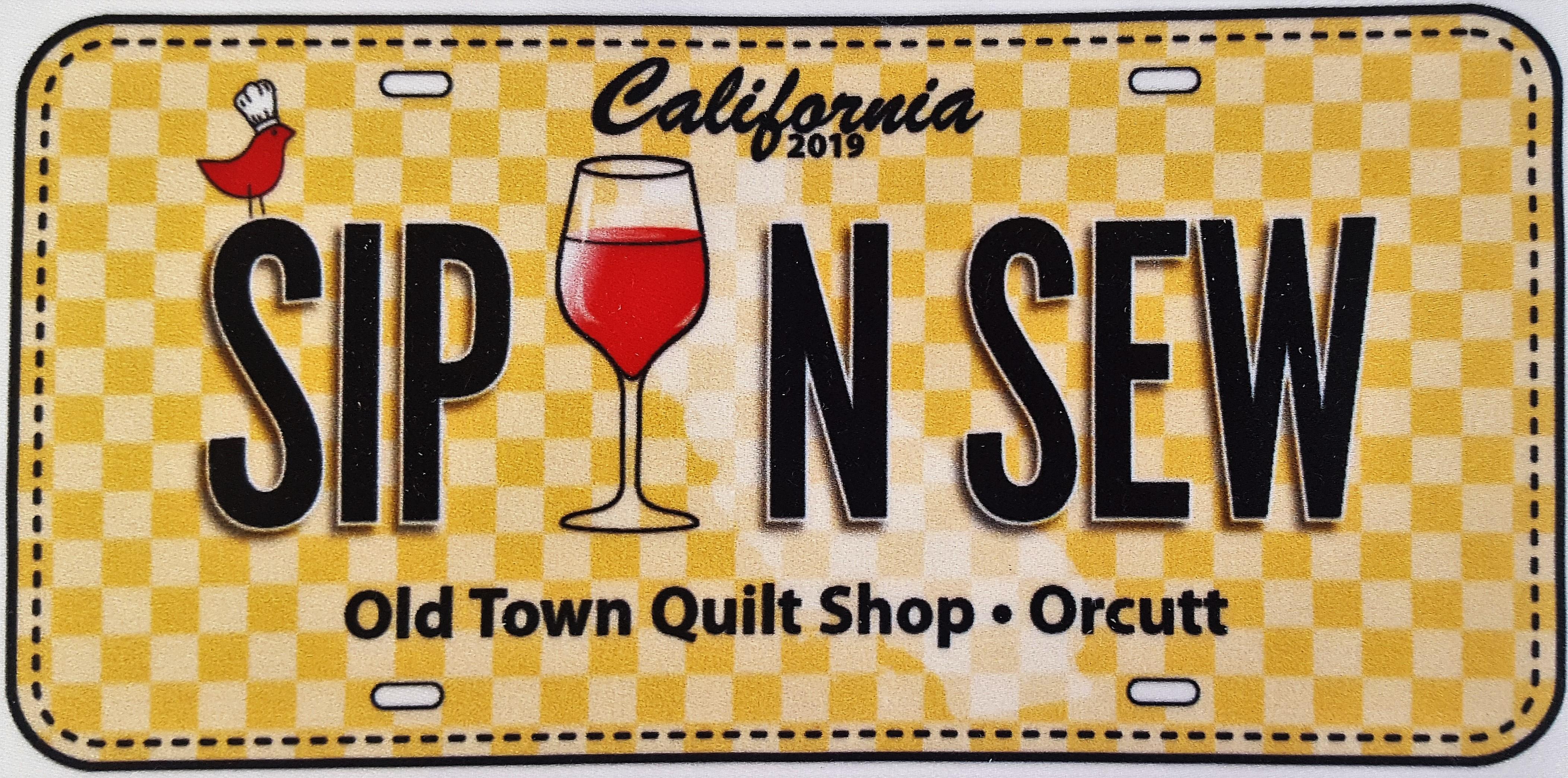 License Plate - Sip N Sew
