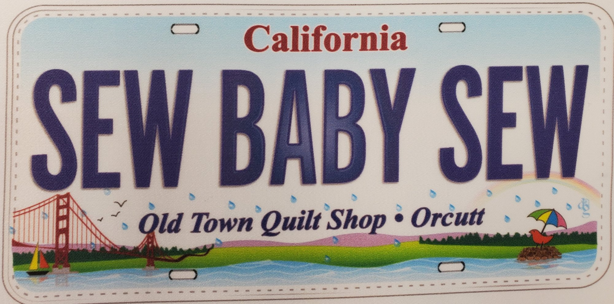 License Plate - Sew Baby Sew