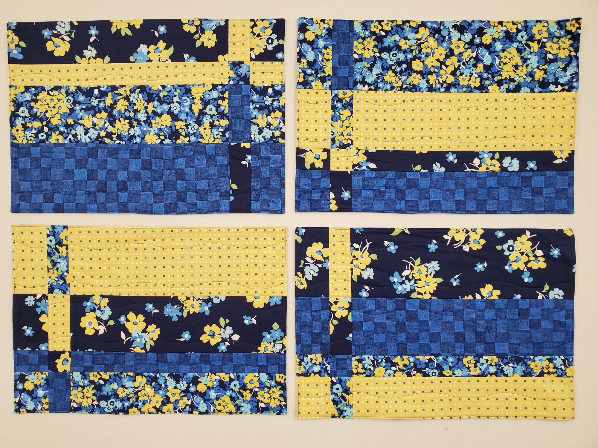 Blue/Yellow Placemats - Set of 4