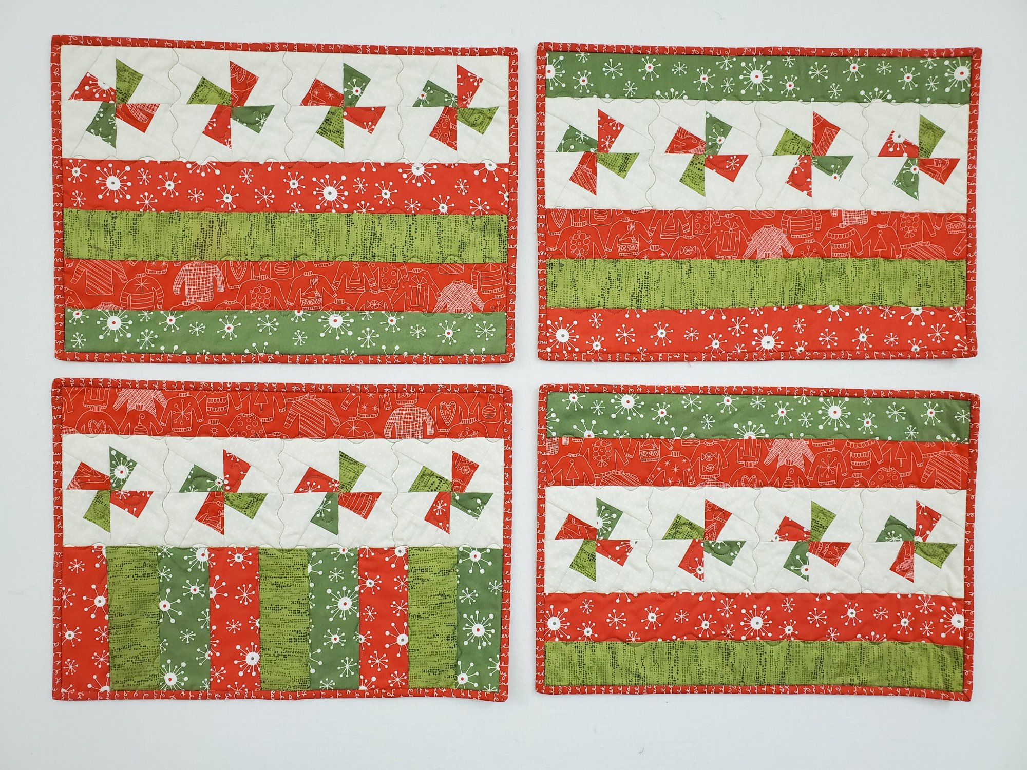 Holiday Twister Placemats