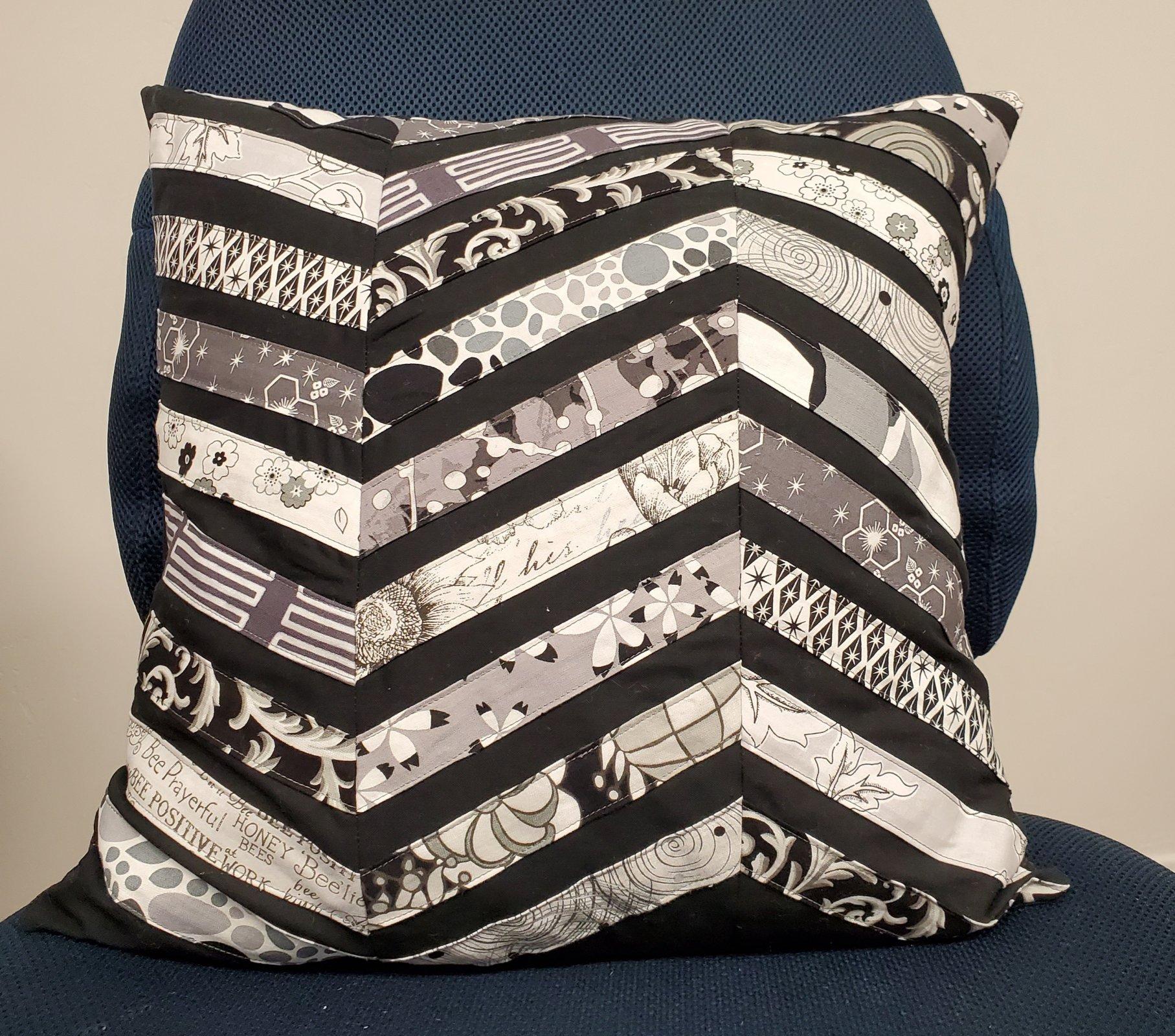 Black/White/Grey Pillow - 16
