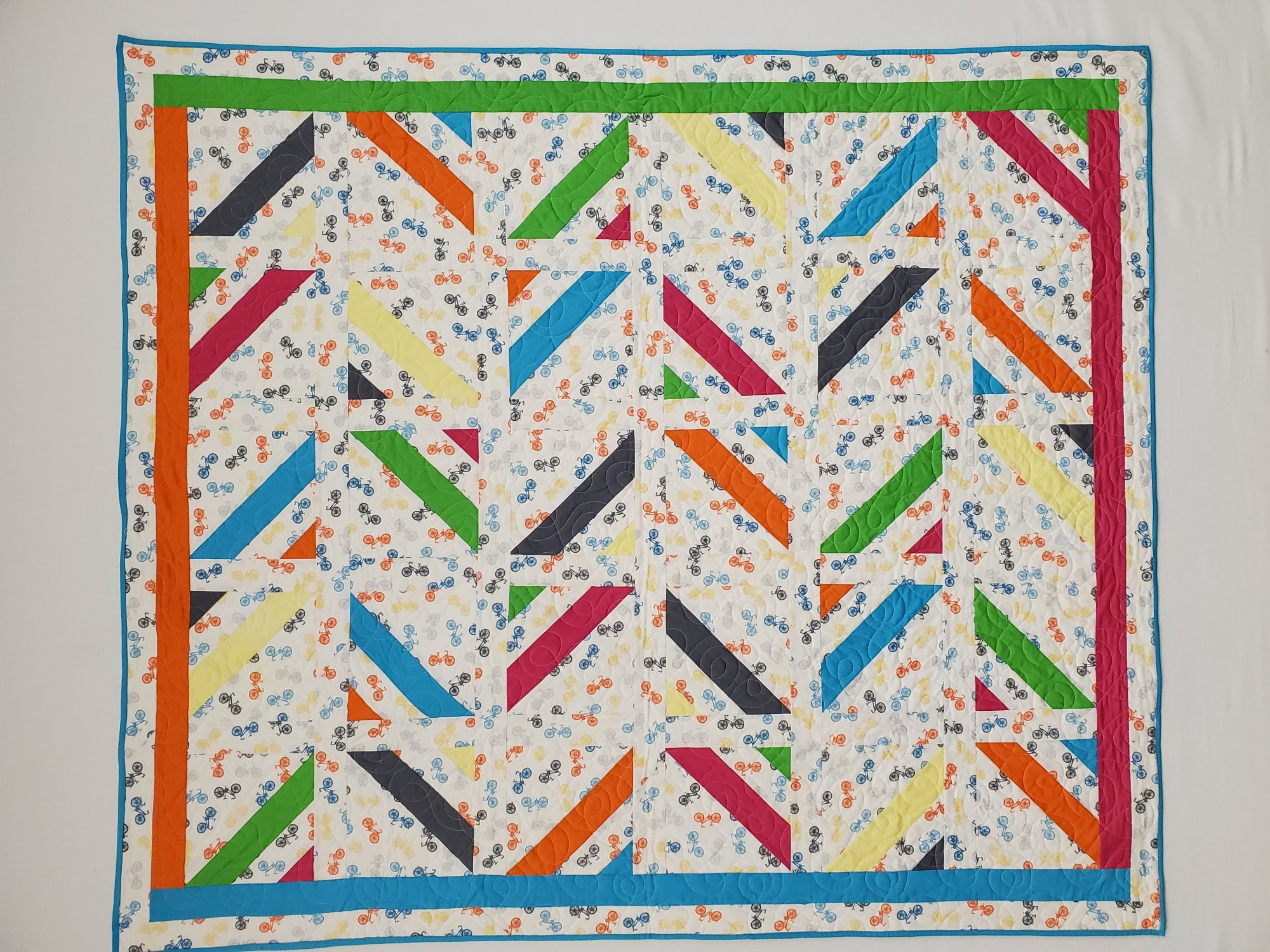 Bright Bicycles Quilt