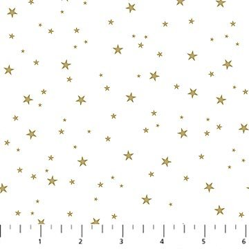 Believe in Magic White Gold Stars Metallic