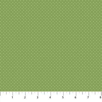 Botanica Green Swiss Dot