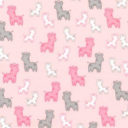 Cozy Cotton Pink Giraffe Flannel