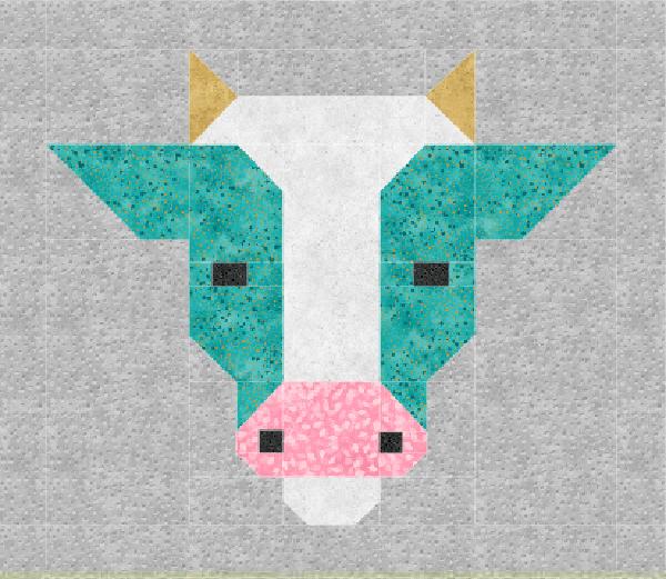 Cow Quilt Block