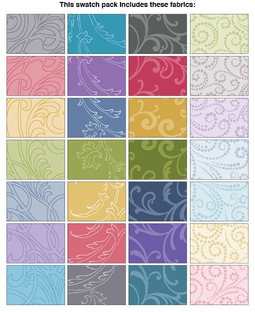 Classic Scrolls Blenders 5 Squares