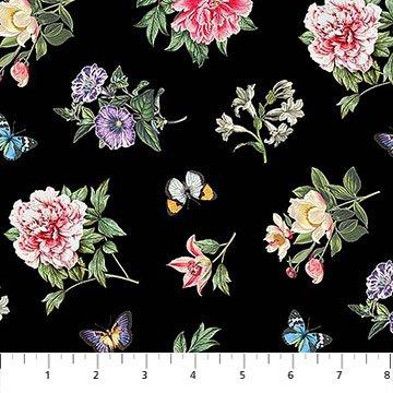 Botanica Black Multi Floral Toss