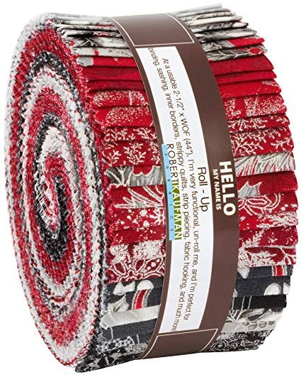 Holiday Flourish Scarlet Silver Colorstory 2 1/2 Strips, 40pcs