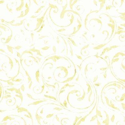 Light Yellow Floral Swirl