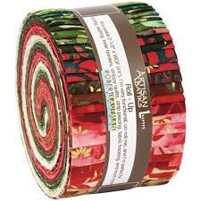 Artisan Batiks Northwoods Red 2 1/2 strips, 40pcs