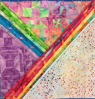 Rainbow Sherbert 5 Squares Batik 44pcs
