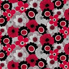 Red Alert Floral Collage Red