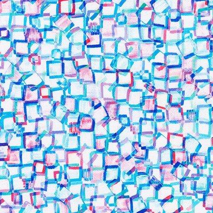 Bright Side White Multi Squares