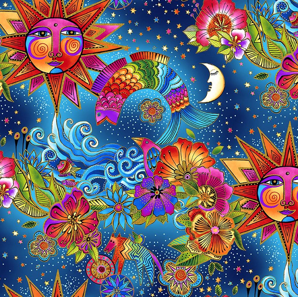 Celestial Magic Toile Multi Bright