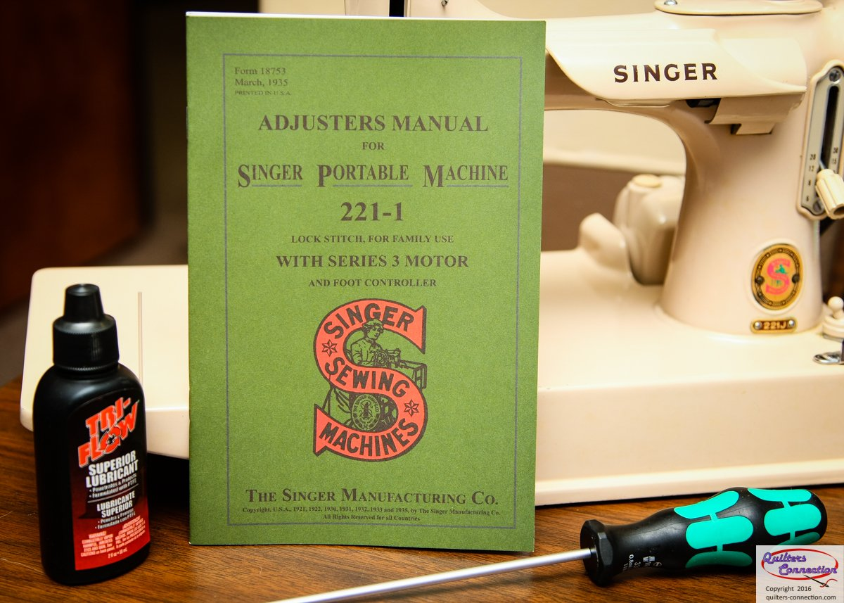 Singer 221 Adjusters Manual