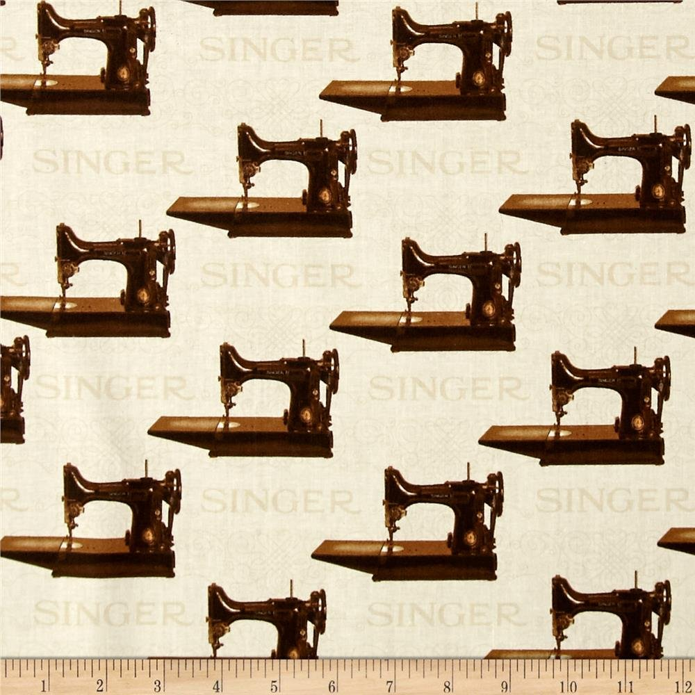 Singer 221 Featherweight Fabric - Sepia