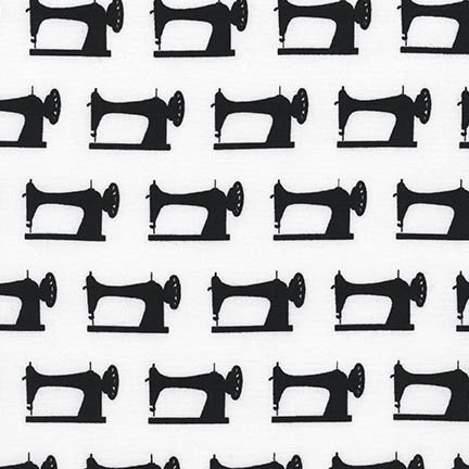 Black Machines on White Background