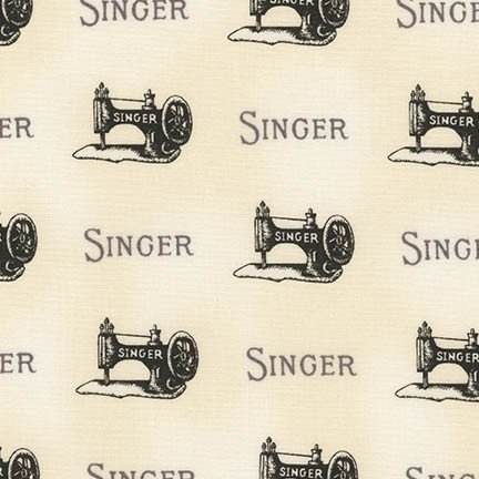 Vintage Singer Sewing Machine Fabric