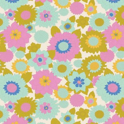 Tilda Lemon Tree Fabric (Boogie Flower)