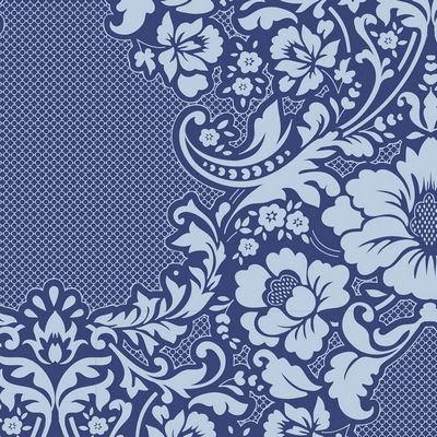 Tilda LazyDays  Fabric (Eleanore Blue)