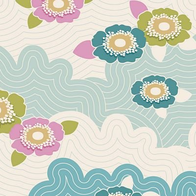 Tilda LazyDays Fabric (Frances Teal)