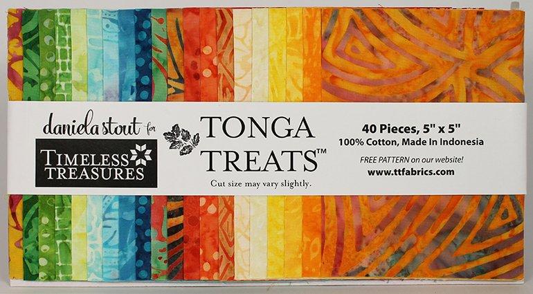 5in Squares Tonga Batik Happy Hour Fabric