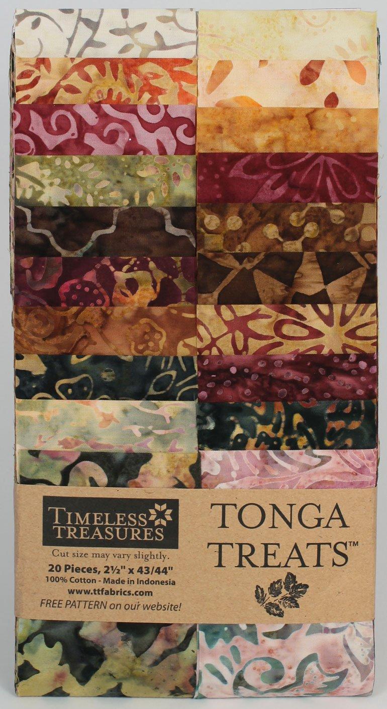 2.5in Strips Tonga Batik Vineyard Fabric