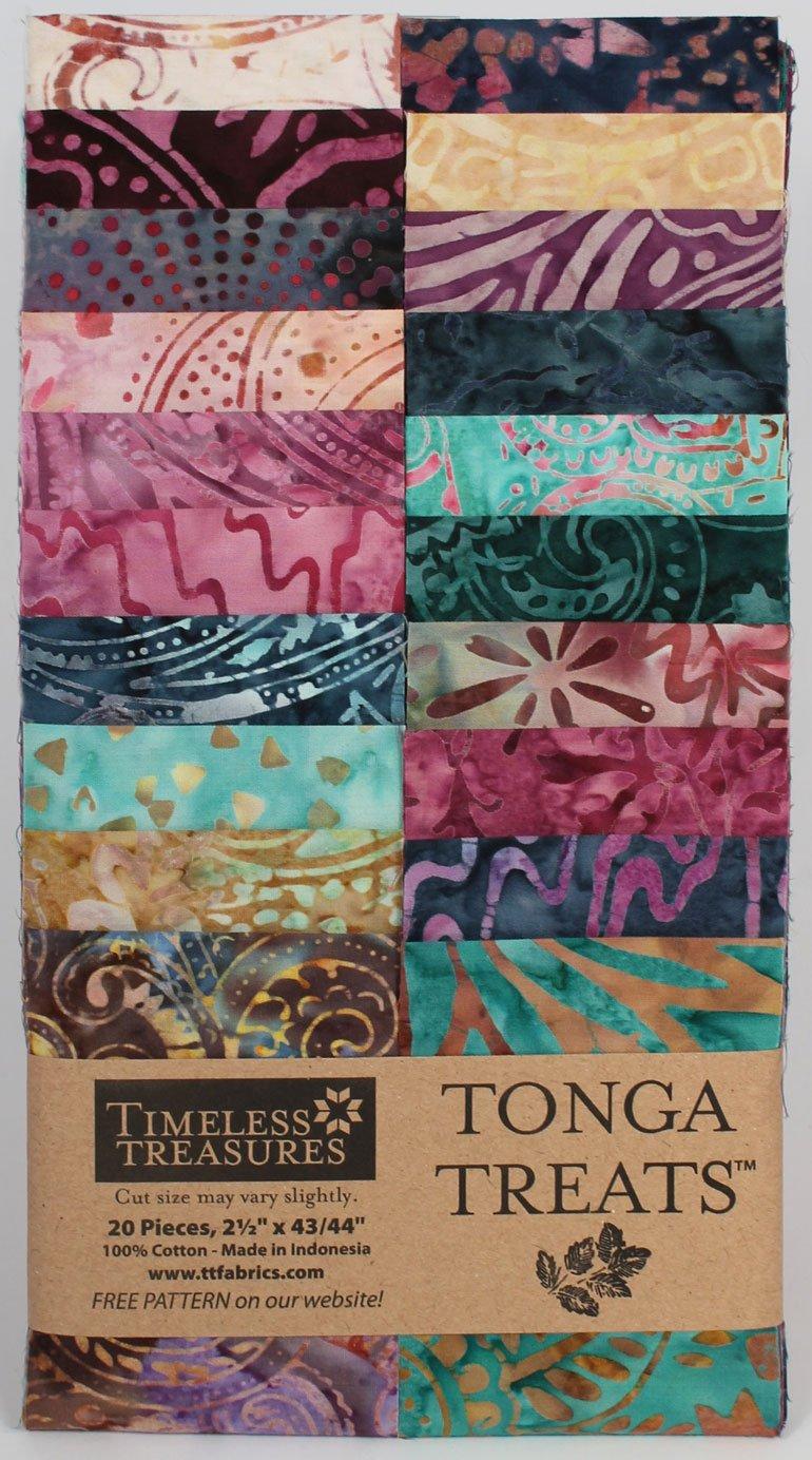 2.5in Strips Tonga Batik Zanzibar Fabric