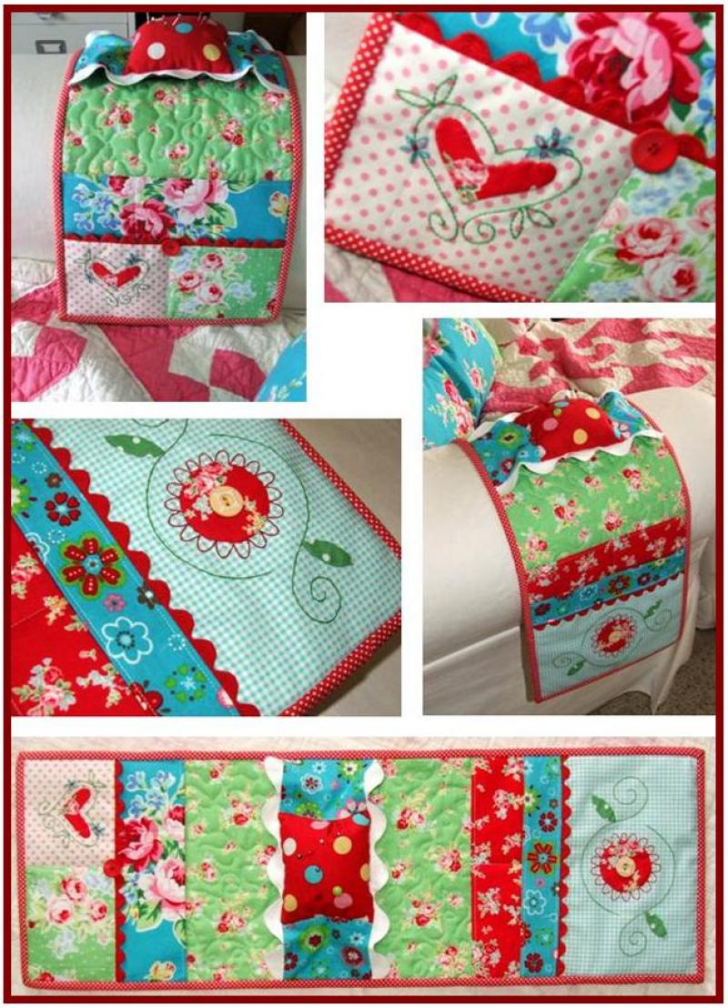 Flower Sugar Sewing Caddy-Q15