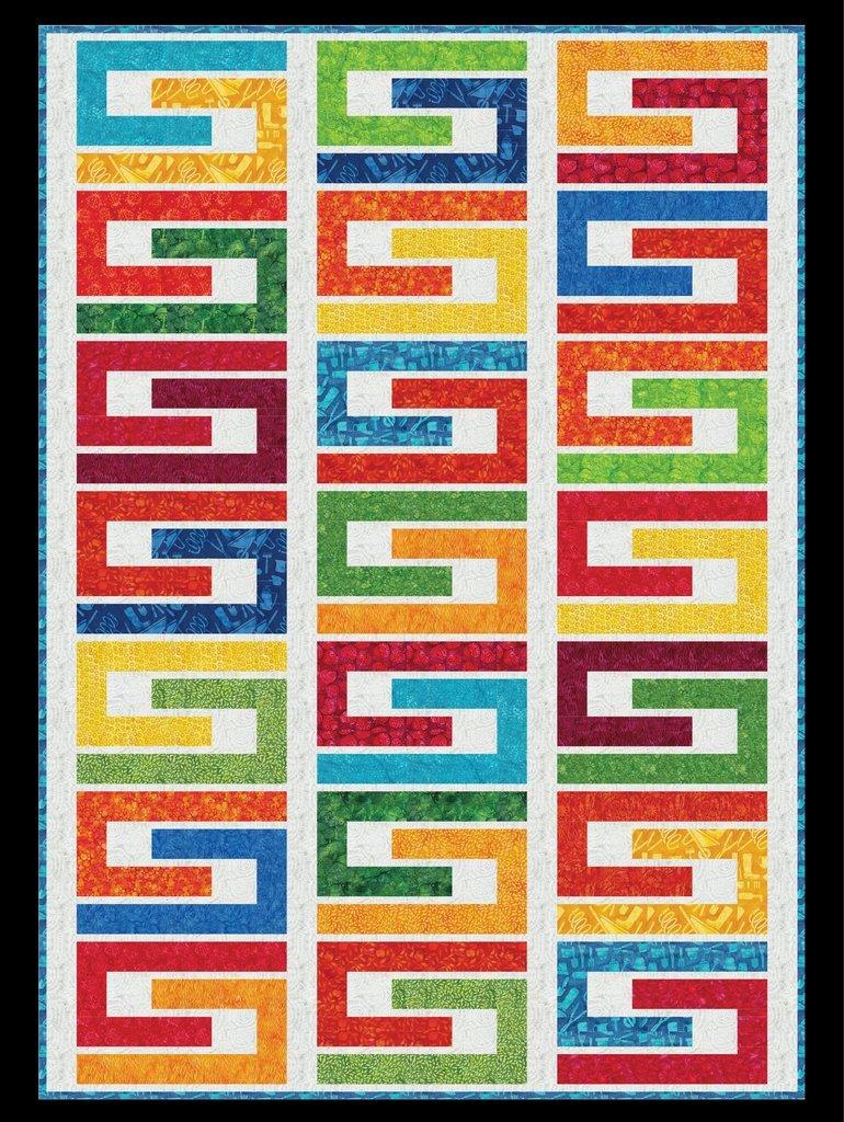 Color Maze Quilt Kit