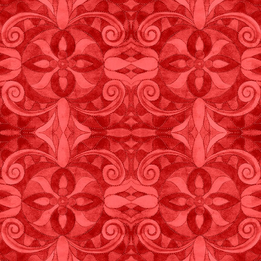 108 Baroque 9777-88 Red