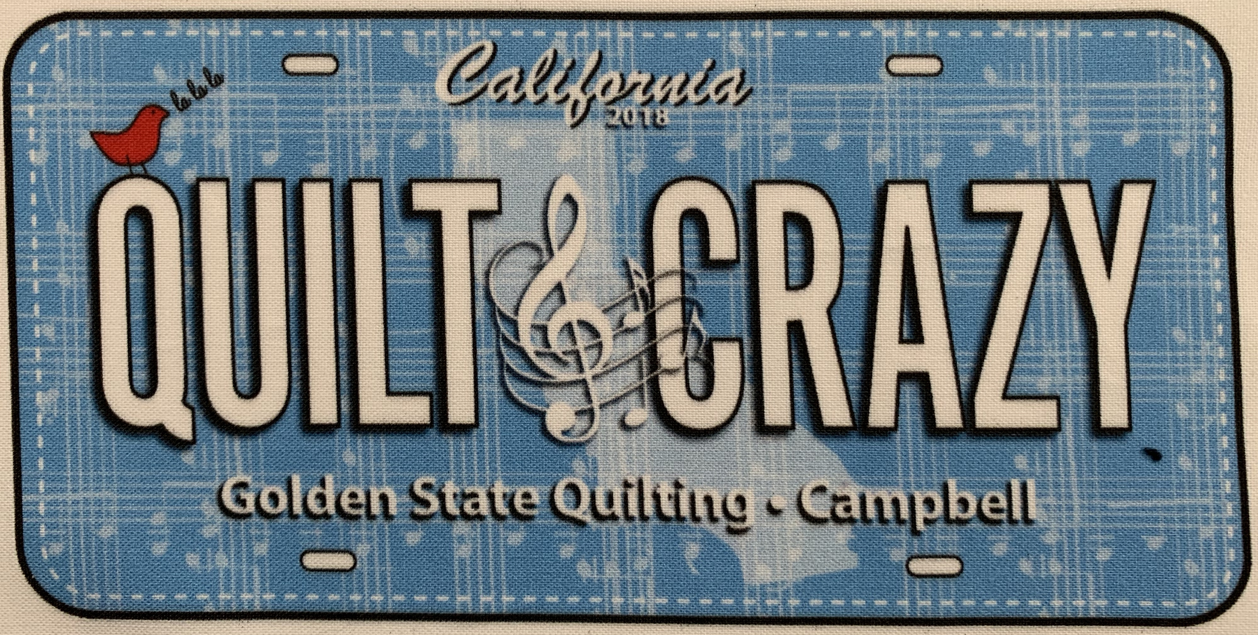 Row by Row 2018 License plate