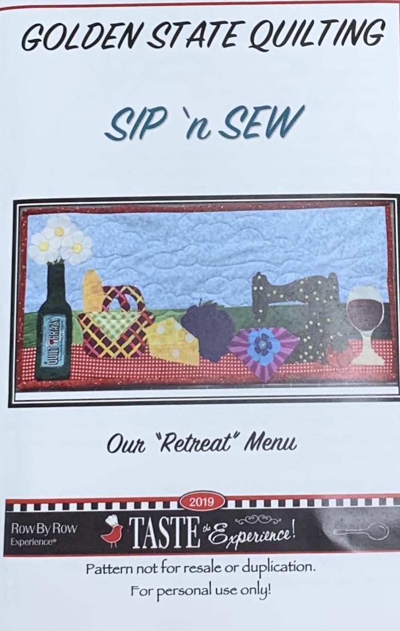 Sip 'n Sew pattern-Row by Row 2019