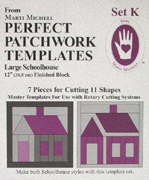 Perfect Patchwork Templates Set K Large Schoolhouse