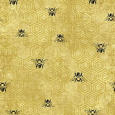Bee Kind-Spaced Bees Gold