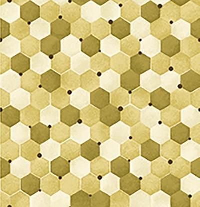 Bee Kind-Tonal Honeycomb Green