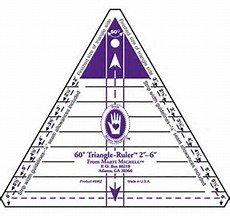 60 degree Triangle ruler-small