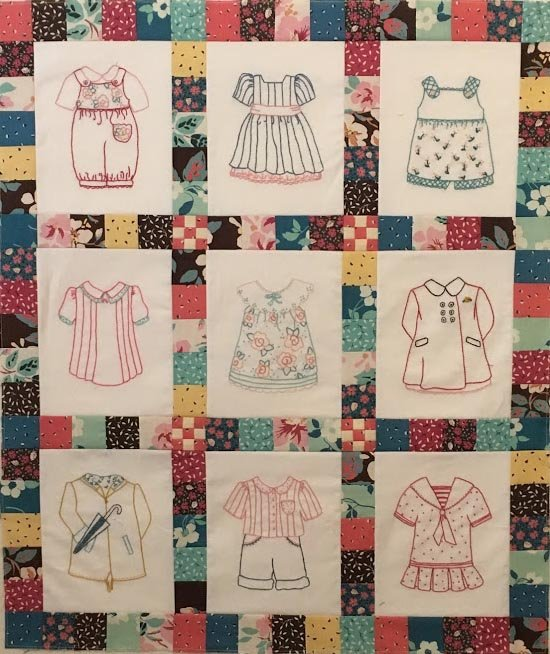 Betsy's Closet In Stitches Wallhanging Kit