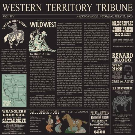 Cowboy Country-Newsprint Black