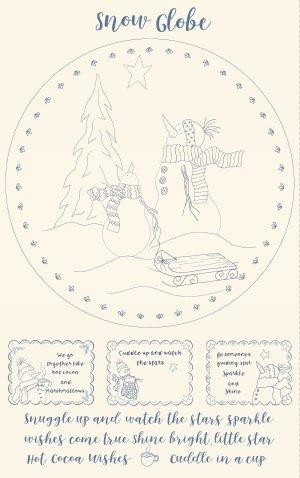 Snowman Snow Globe-Panel