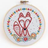 Embroidery kit-fox