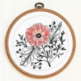Embroidery kit-flower