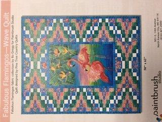 Fabulous Flamingos- Wave Quilt Kit