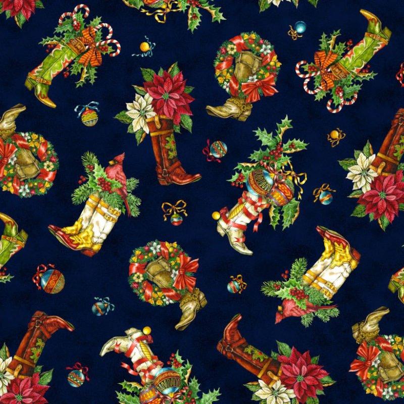 Noel Christmas Boots-Blue