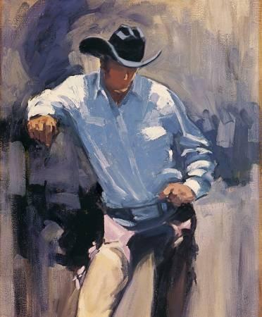 Back Of The Chutes Cowboy  Panel