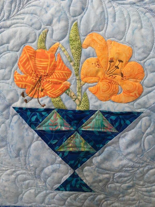 Ruby's Flower Basket Applique Quilt Kit