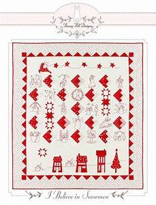 Red Snowman Embroidery Full Kit