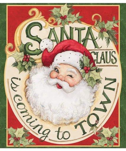 Retro Santa Claus Panel