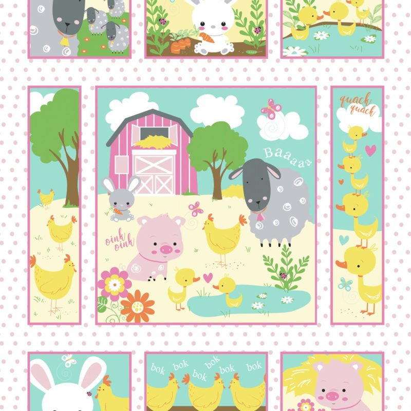 Wee Ones Farm Panel Quilt